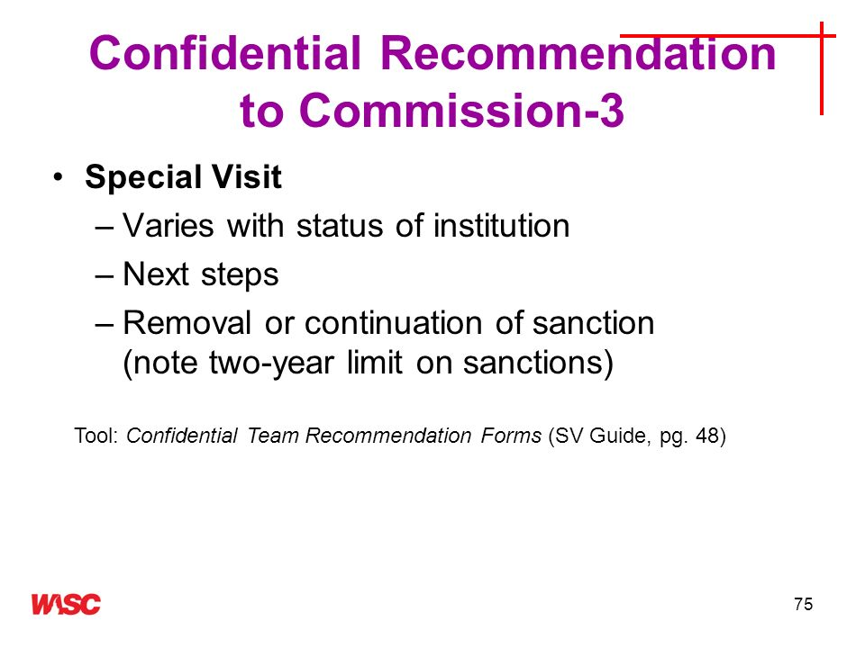 Confidential Recommendation to Commission-3