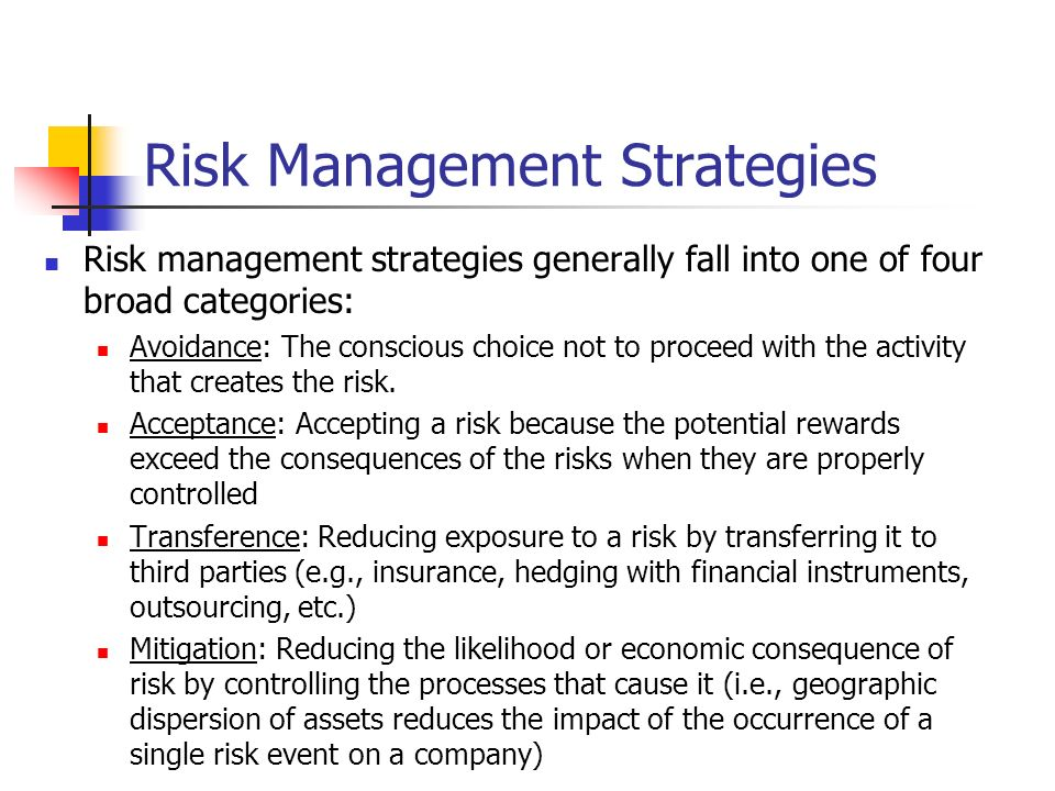 Strategies for Risk Management