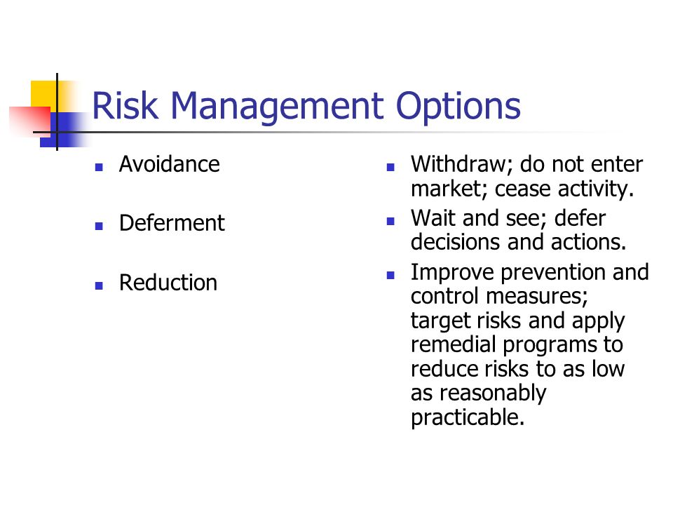 Risk Management Options