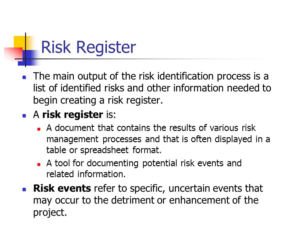 risk a potential event that may Writing good risk statements  the event may appear to be the  risk is a combination of potential events and consequences along with the associated.