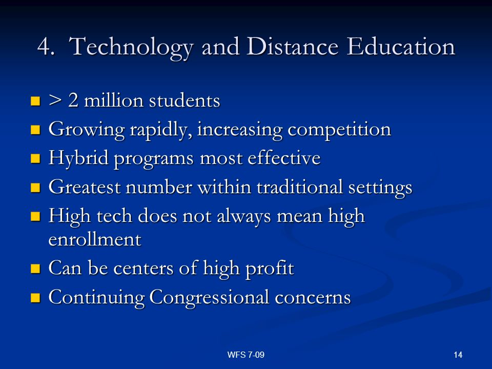 4. Technology and Distance Education