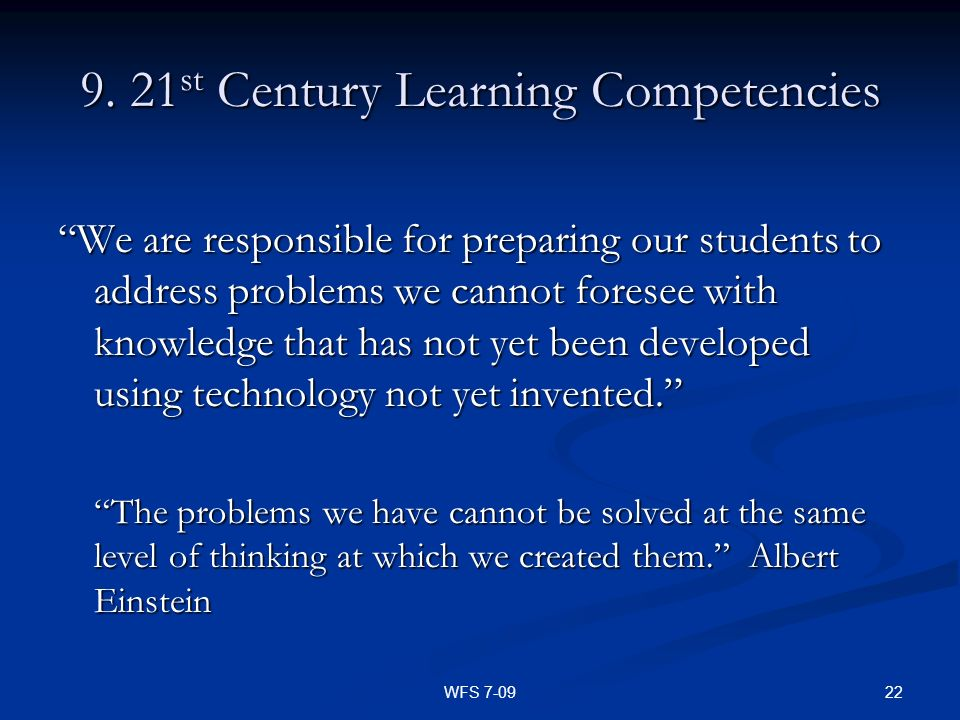 9. 21st Century Learning Competencies