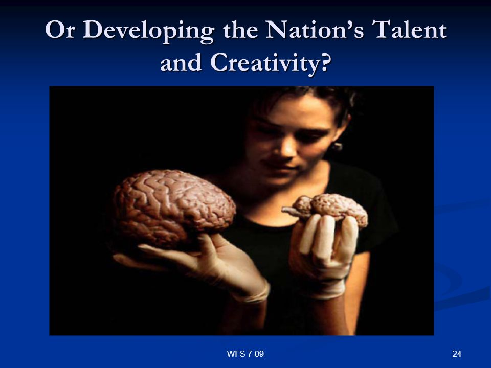 Or Developing the Nation's Talent and Creativity