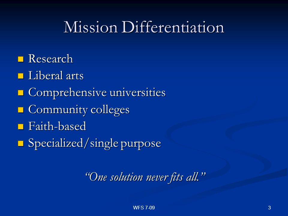 Mission Differentiation