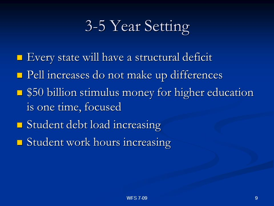 3-5 Year Setting Every state will have a structural deficit