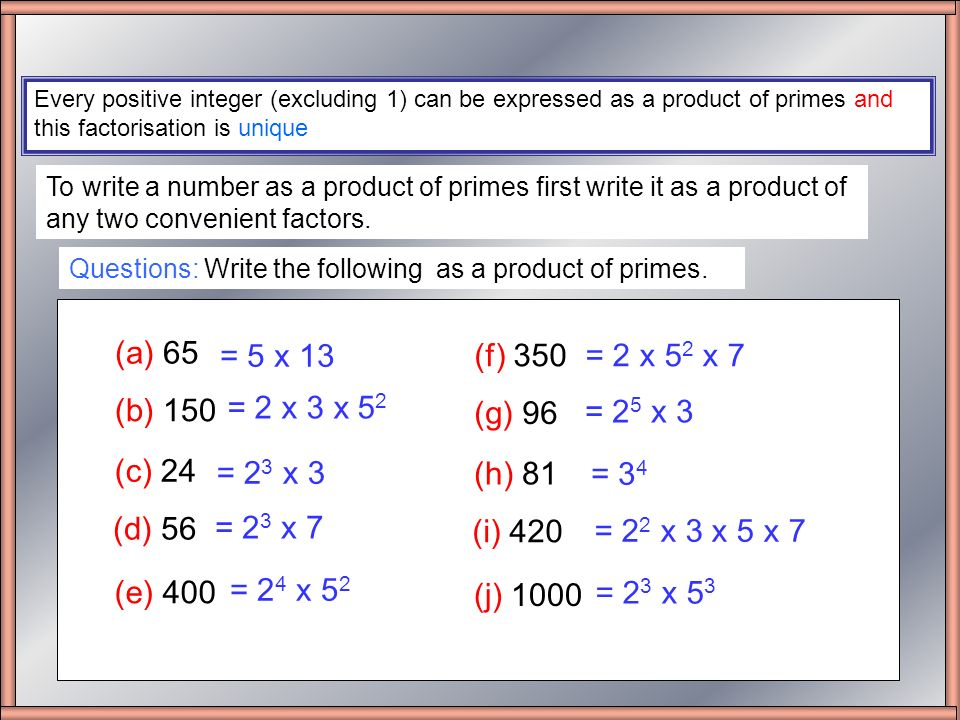 write 75 as a product of prime factors