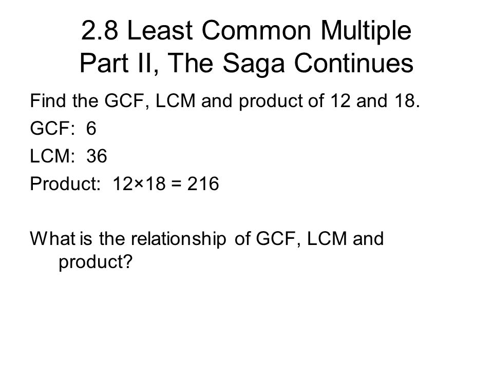 gcf of 15 18 and 24 relationship
