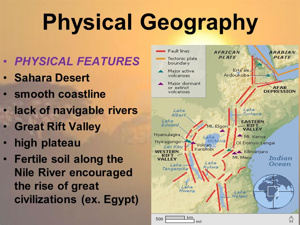 geographic features nile river sahara desert Geography of the sahara desert  the sahara covers parts of several african nations including algeria, chad, egypt, libya, mali, mauritania, morocco, niger, sudan and tunisia most of the sahara desert is undeveloped and features a varied topography most of its  the only permanent river in the desert is the nile river that flows from.