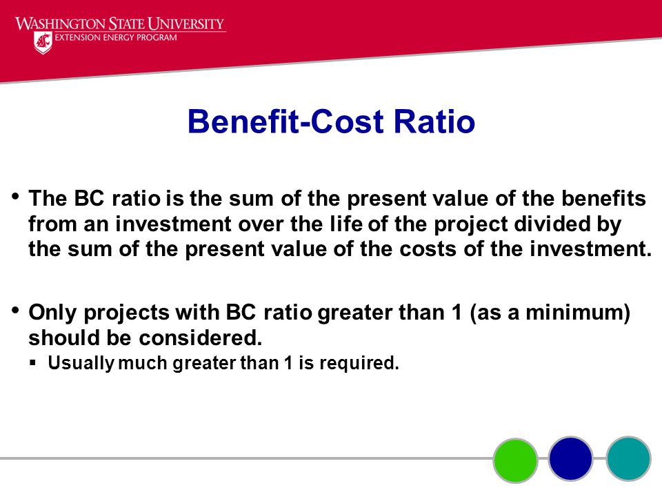 Benefit-Cost Ratio