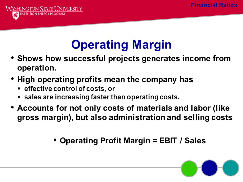 Operating Profit Margin = EBIT / Sales