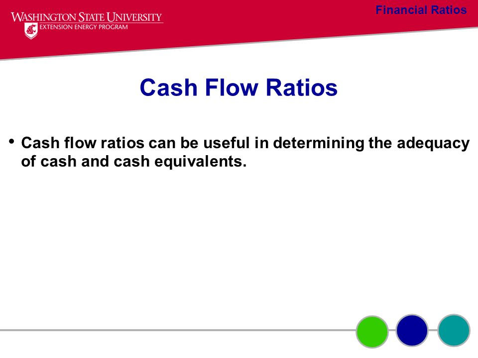 Financial Ratios Cash Flow Ratios.