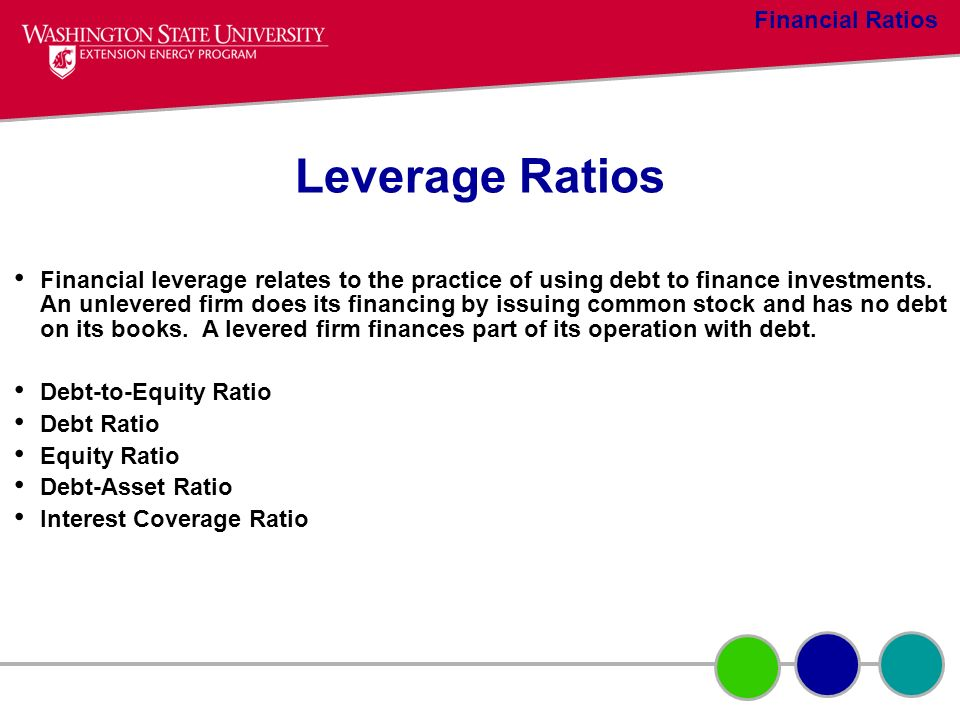 Leverage Ratios Financial Ratios