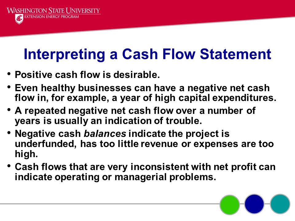 Interpreting a Cash Flow Statement