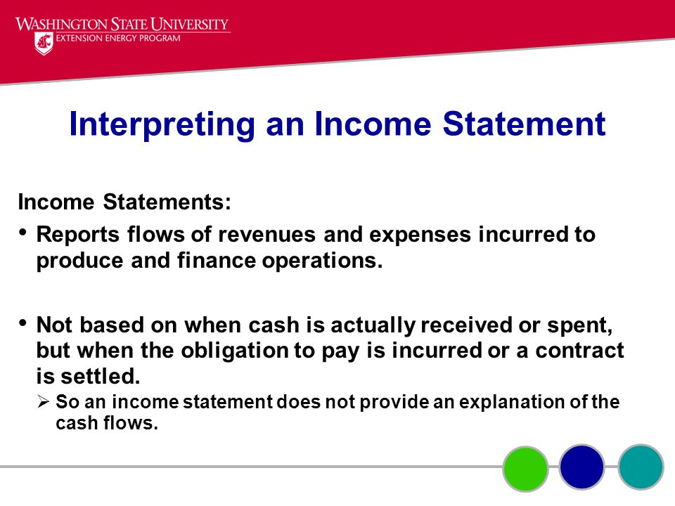 Interpreting an Income Statement