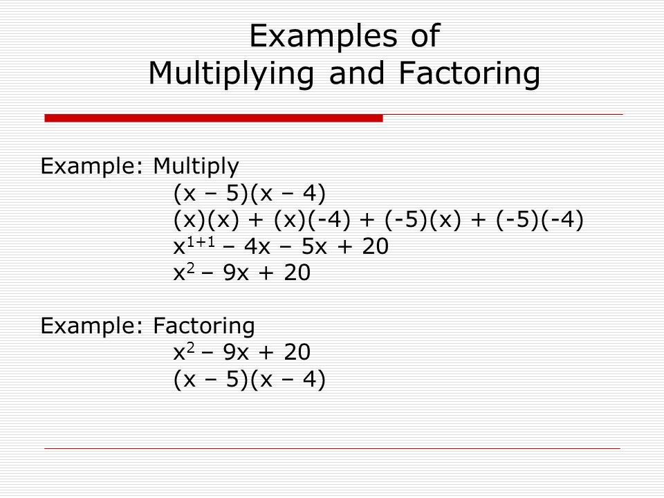 Factoring a Monomial from a Polynomial Chapter 5 Section 1 - ppt ...