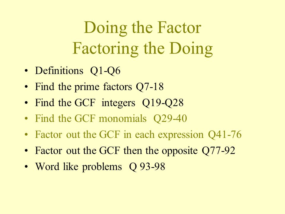 how to find gcf of 70 and 98