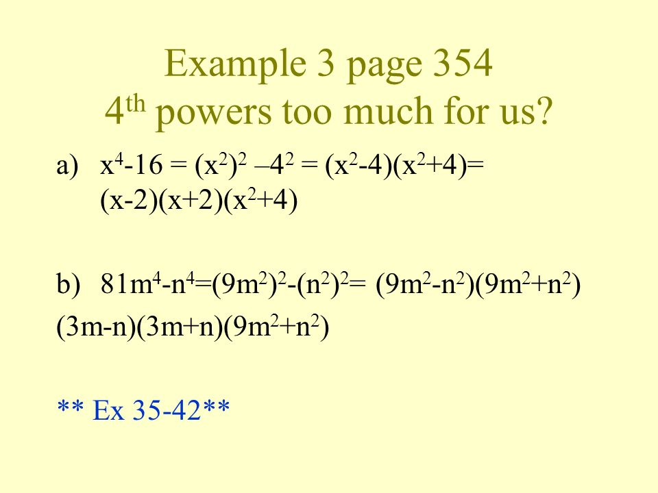 Example 3 page 354 4th powers too much for us