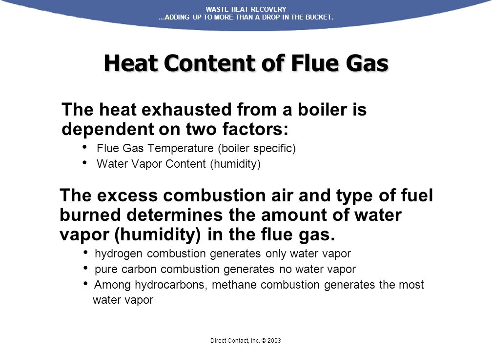 Heat Content of Flue Gas