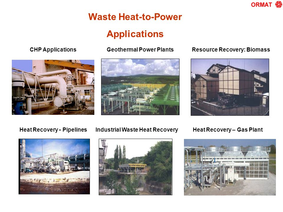 Waste Heat-to-Power Applications