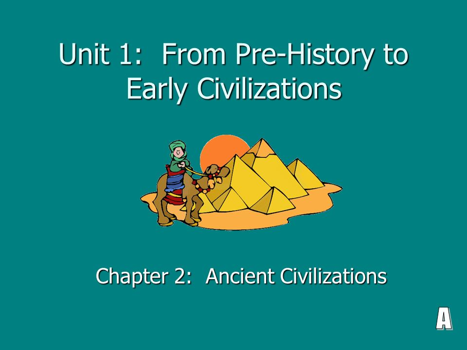 Chapter 1 the first civilizations