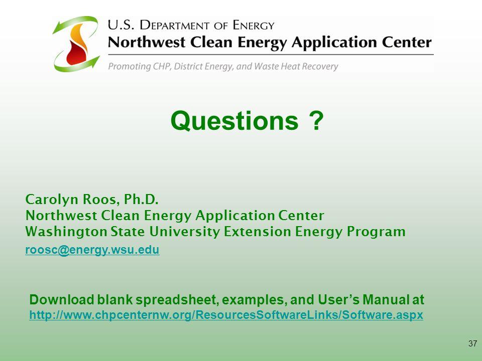 Questions Carolyn Roos, Ph.D.
