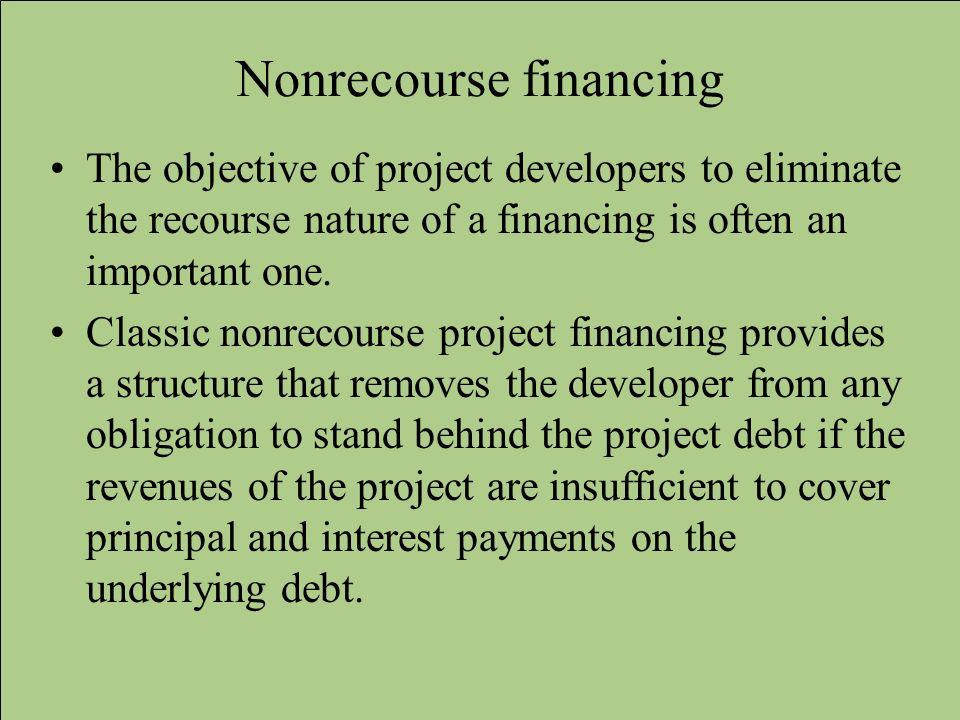 Nonrecourse financing