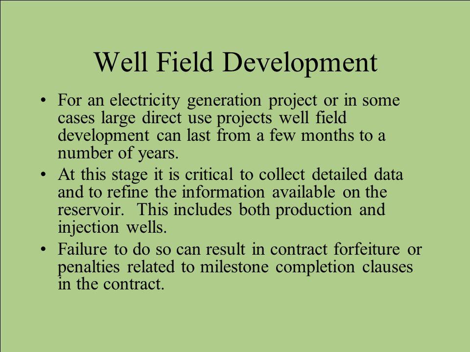 Well Field Development