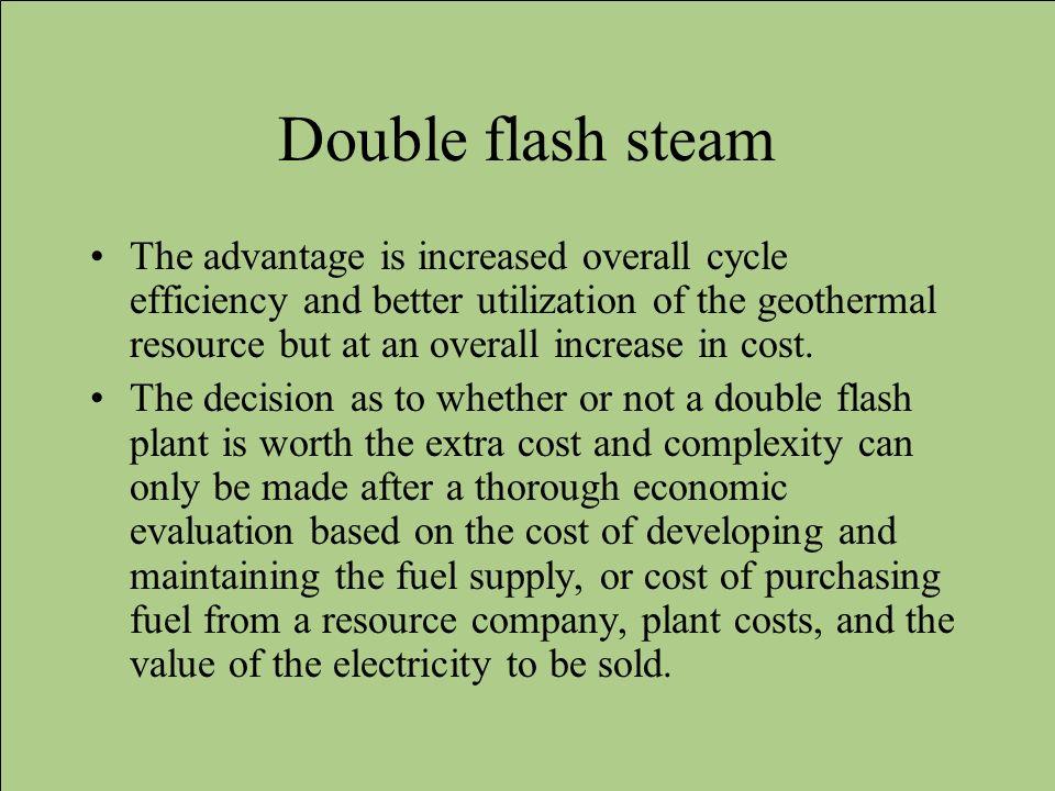 Double flash steam