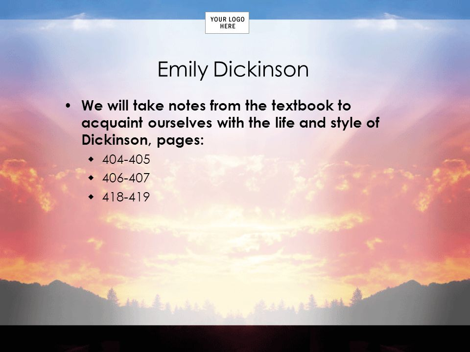 the dark and mysterious poems of emily dickinson Her mother emily norcross dickinson,  many of her poems are dark and mysterious but all are true works of art other sample model essays.