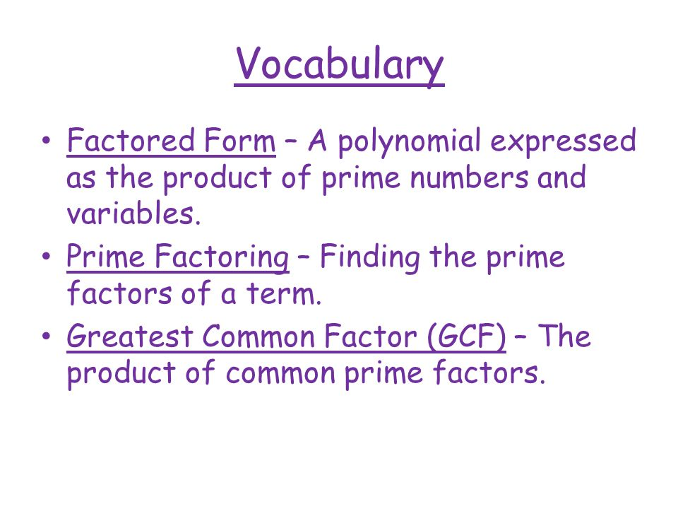 Factoring Polynomials - ppt video online download