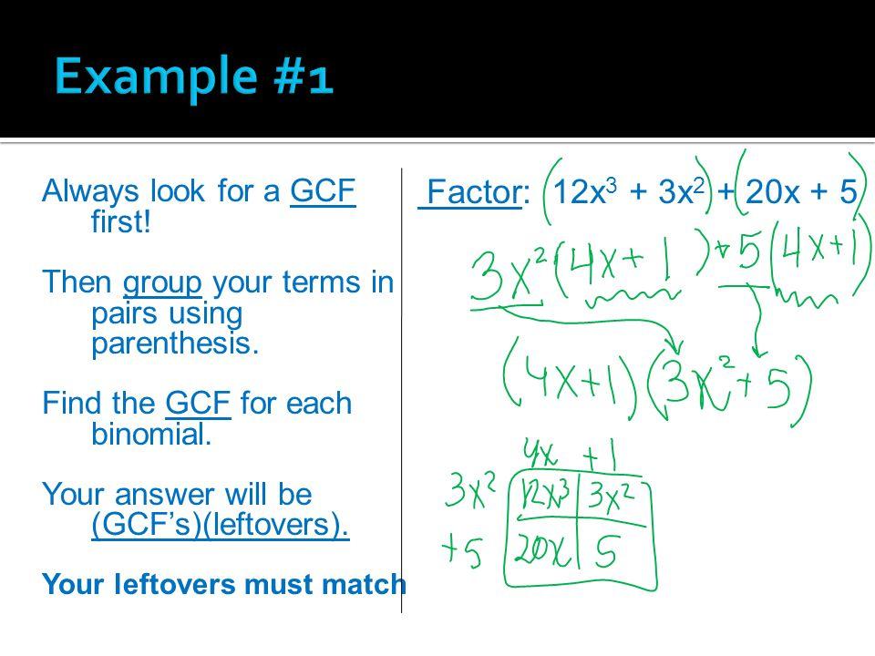 Factoring trinomials completely worksheet
