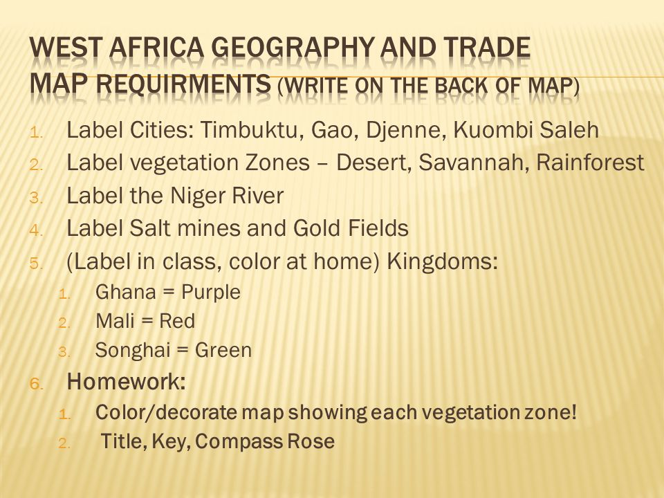 sub saharan africa geography trade vocabulary ppt video online download. Black Bedroom Furniture Sets. Home Design Ideas