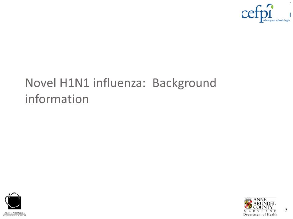 Novel H1N1 influenza: Background information