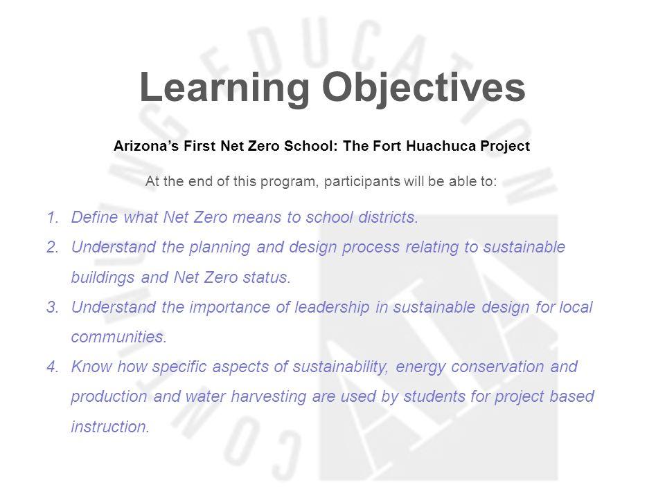 Arizona's First Net Zero School: The Fort Huachuca Project