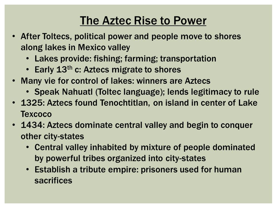 the aztecs rise to power essay Warriors ethos essay warriors ethos essay  the samurai were able to rise to power for a number of reasons, including the leadership and actions of notable .