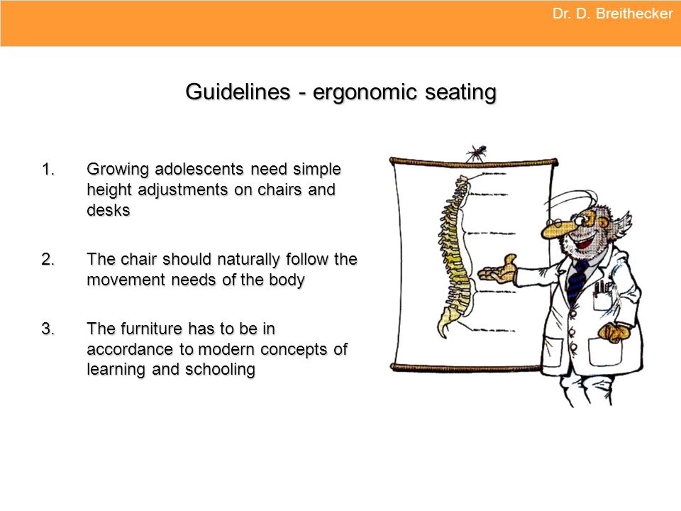 Guidelines - ergonomic seating