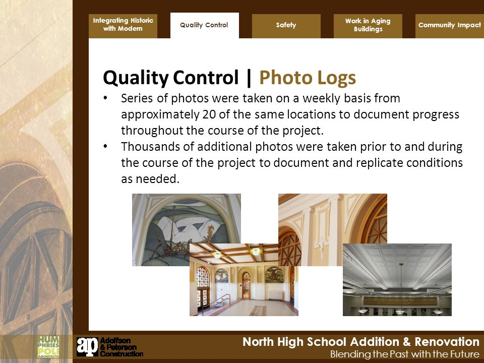 Quality Control | Photo Logs