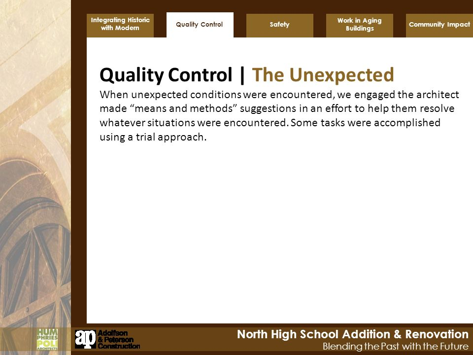 Quality Control | The Unexpected