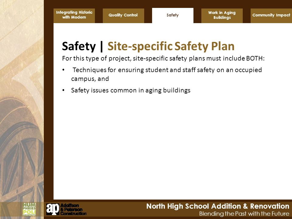 Safety | Site-specific Safety Plan