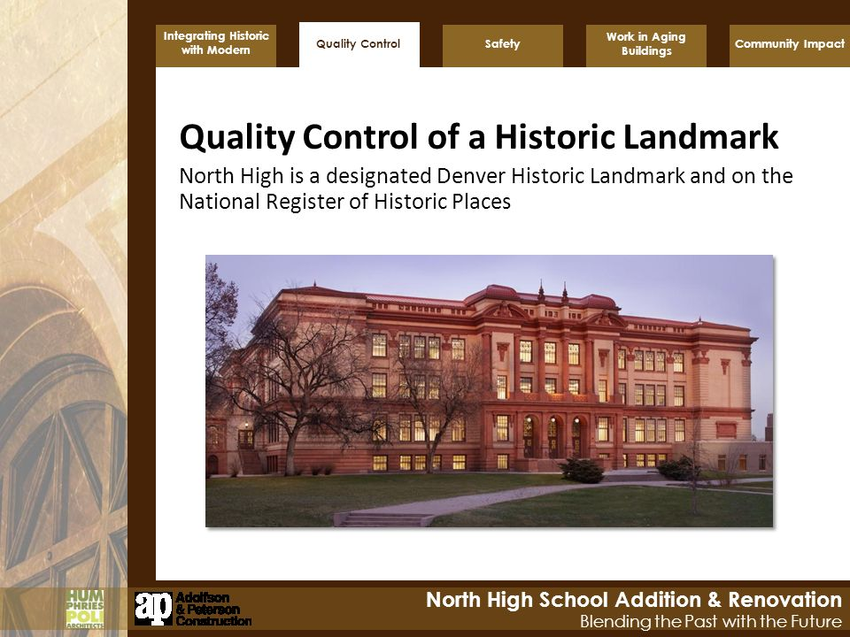 Quality Control of a Historic Landmark