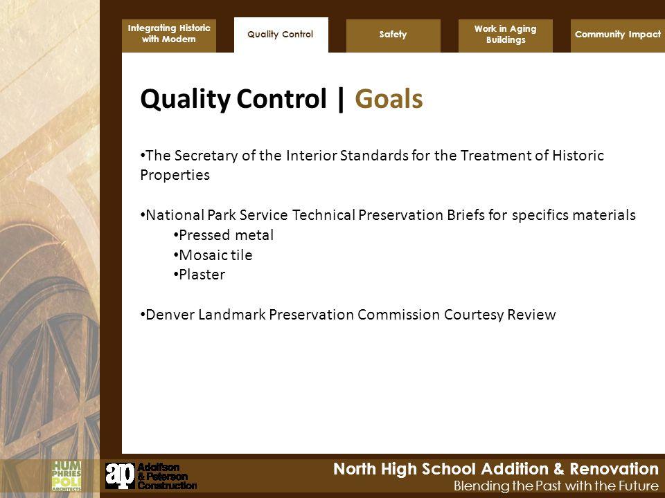 Quality Control | Goals
