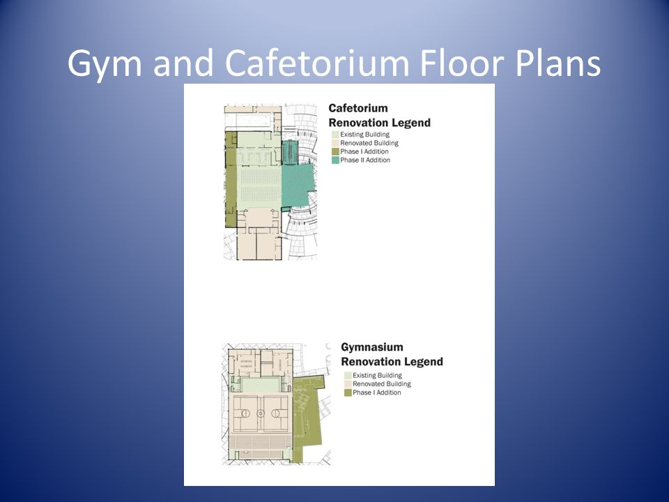 Gym and Cafetorium Floor Plans