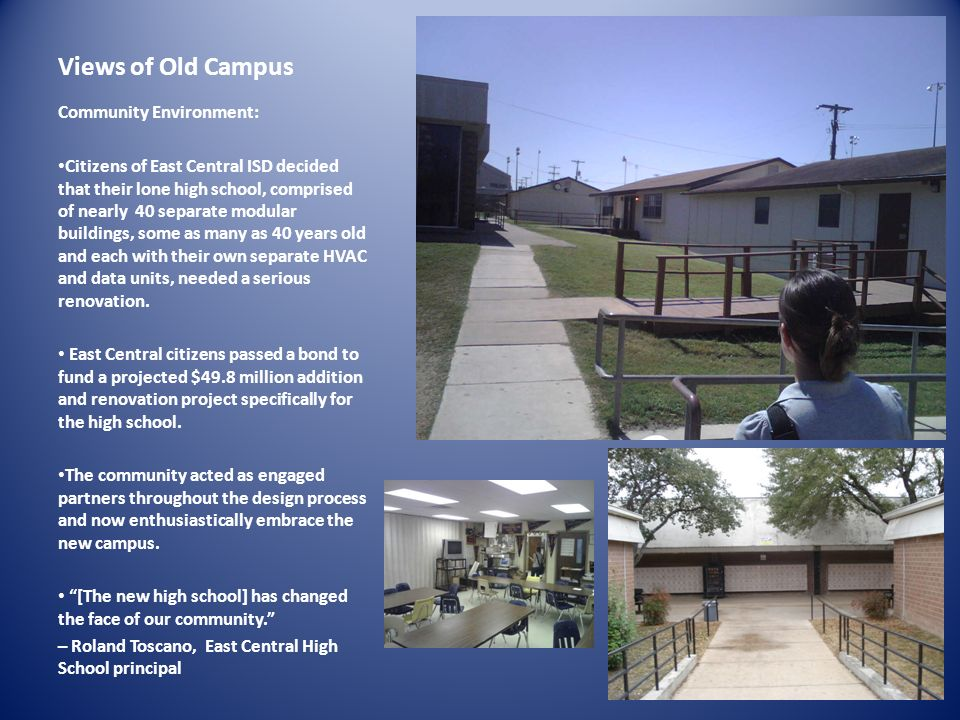 Views of Old Campus Community Environment: