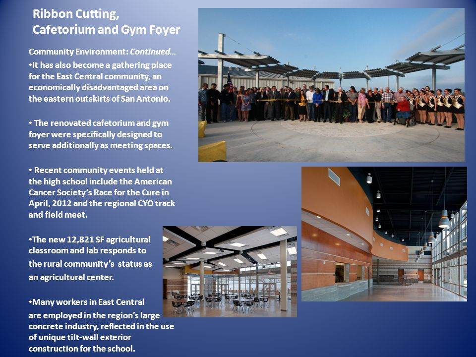 Ribbon Cutting, Cafetorium and Gym Foyer
