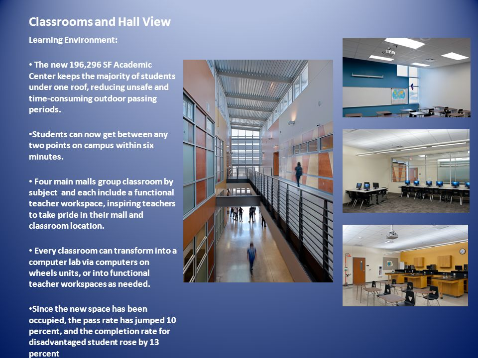 Classrooms and Hall View