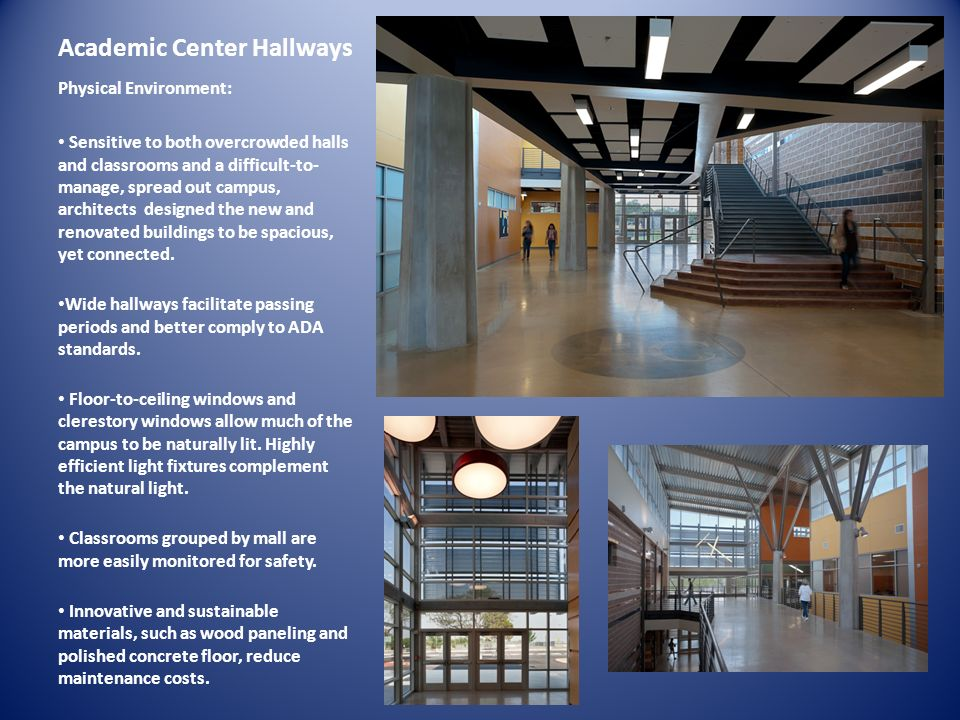 Academic Center Hallways