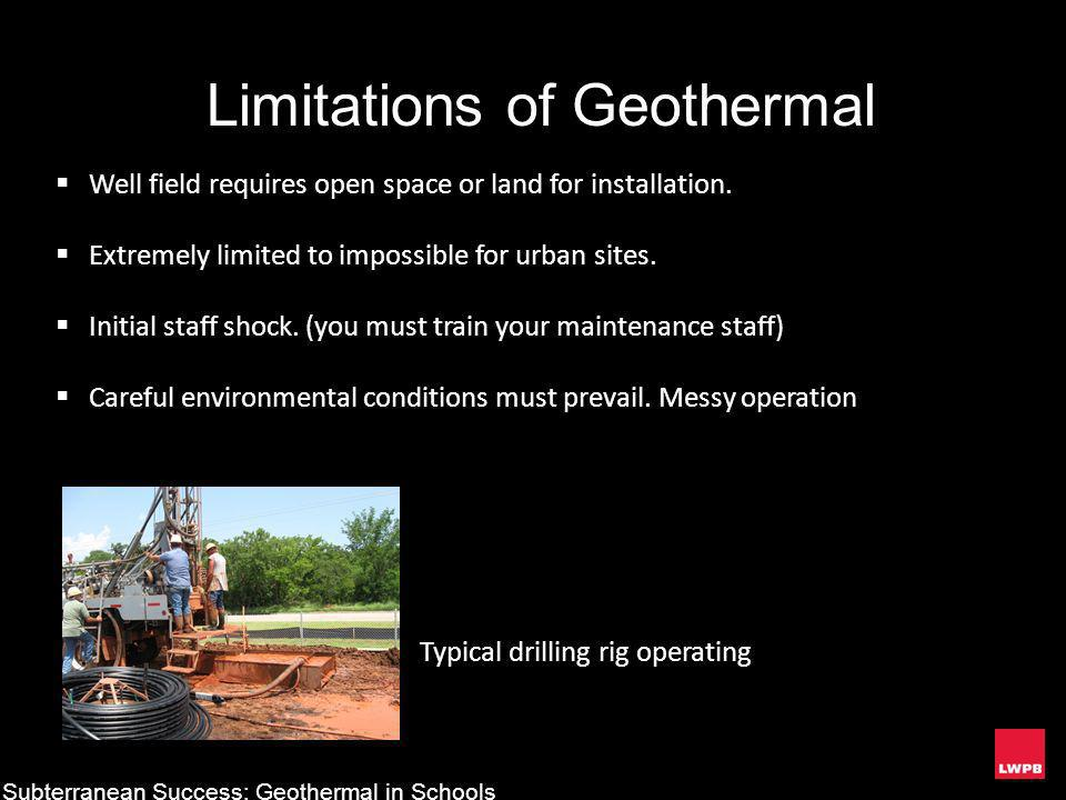 Limitations of Geothermal