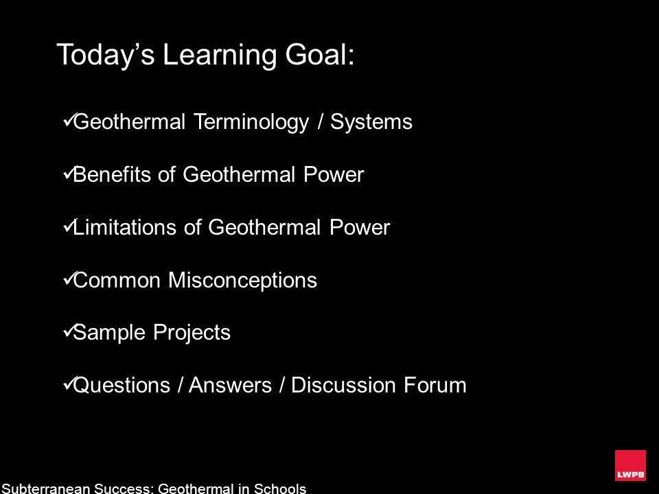 Today's Learning Goal: