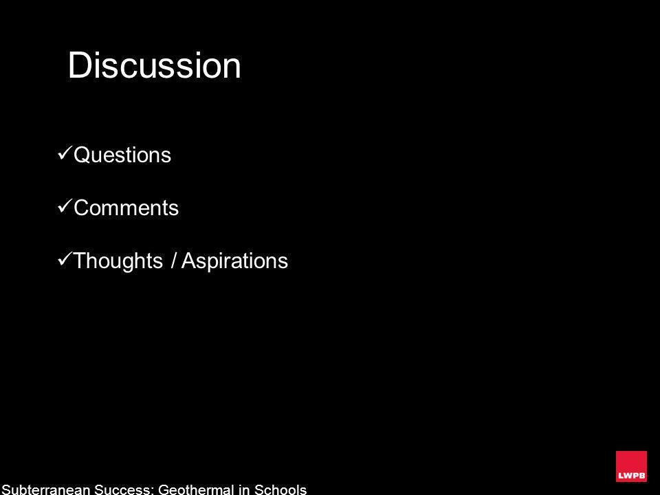 Discussion Questions Comments Thoughts / Aspirations