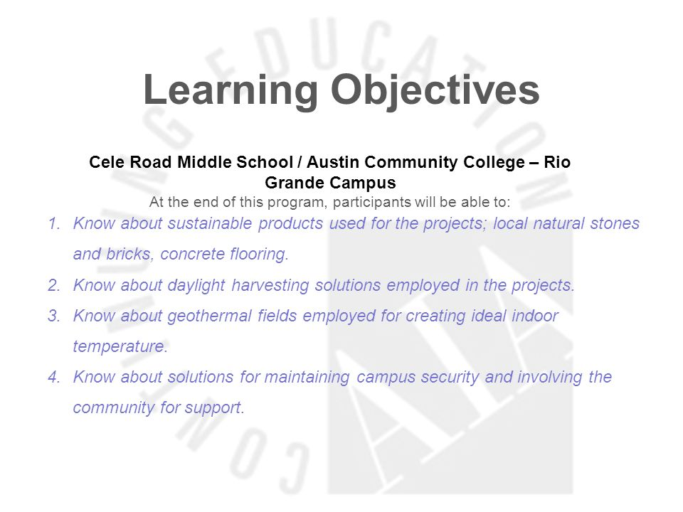 Cele Road Middle School / Austin Community College – Rio Grande Campus
